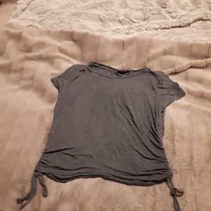Gray tshirt with ties on the sides